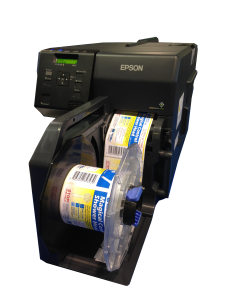 Epson TM-C7500 color label printer - printing labels on rolls